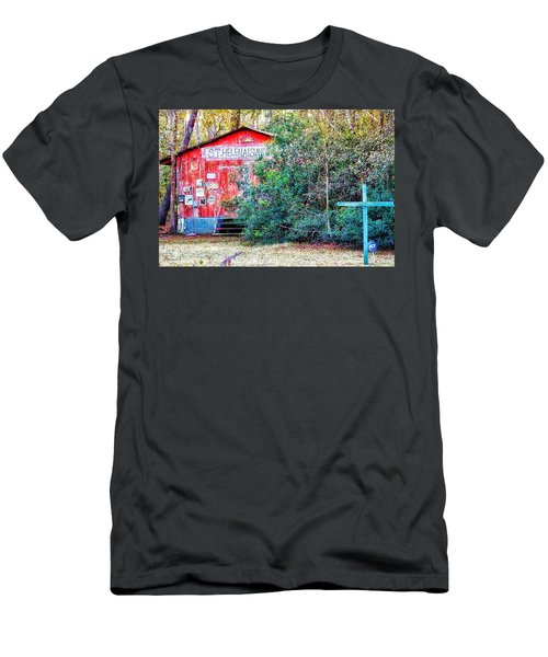 Red Barn With Signs, Heavily Guarded Men's T-Shirt (Athletic Fit)
