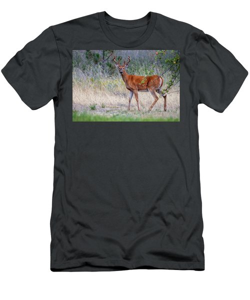 Red Bucks 1 Men's T-Shirt (Athletic Fit)