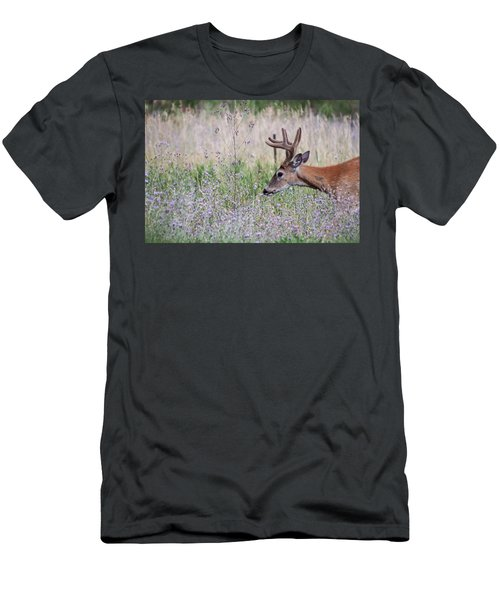 Men's T-Shirt (Athletic Fit) featuring the photograph Red Bucks 4 by Antonio Romero
