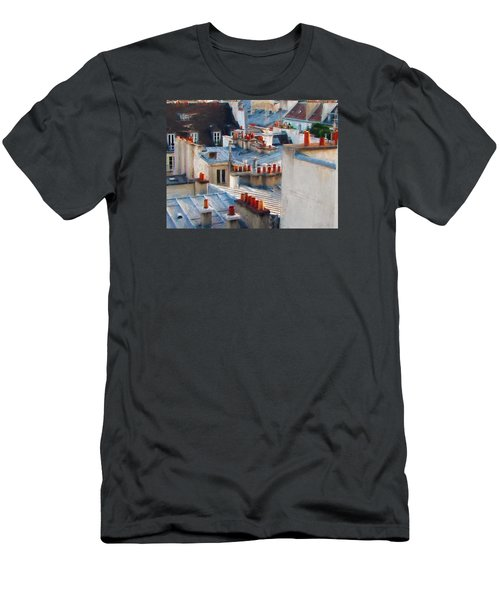 Men's T-Shirt (Slim Fit) featuring the photograph Red Chimneys by John Rivera