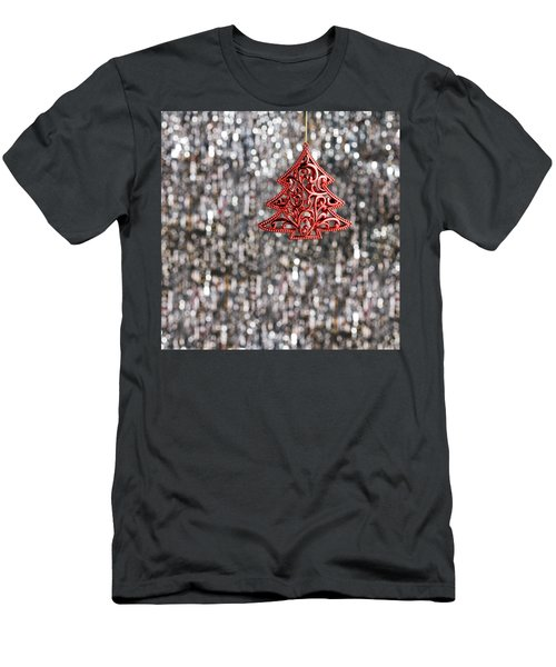Men's T-Shirt (Slim Fit) featuring the photograph Red Christmas Tree by Ulrich Schade