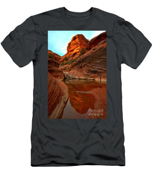 Red Cliffs Reflections Men's T-Shirt (Athletic Fit)