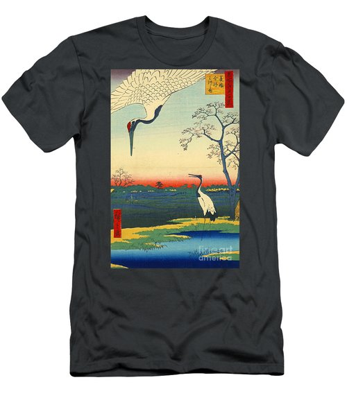 Red Crowned Cranes 1857 Men's T-Shirt (Slim Fit) by Padre Art