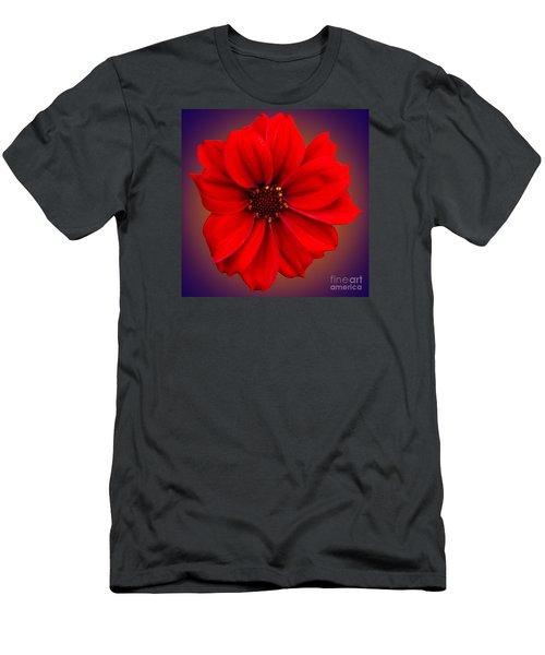 Red Dahlia-bishop-of-llandaff Men's T-Shirt (Slim Fit) by Brian Roscorla
