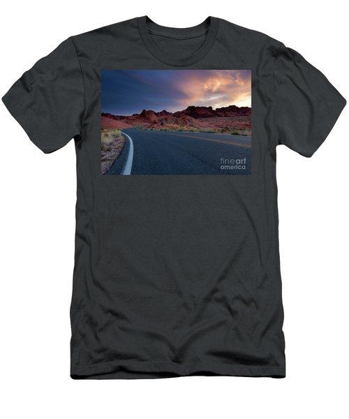 Red Desert Highway Men's T-Shirt (Athletic Fit)