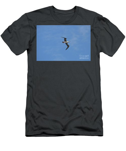 Men's T-Shirt (Slim Fit) featuring the digital art Red Footed Booby Bird 1 by Eva Kaufman