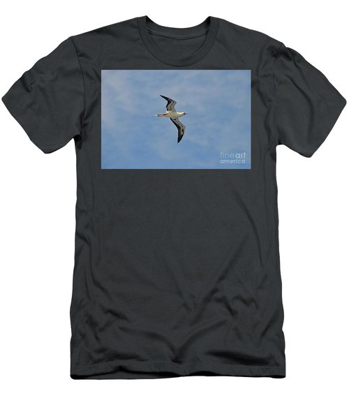 Men's T-Shirt (Slim Fit) featuring the digital art Red Footed Booby Bird 4 by Eva Kaufman
