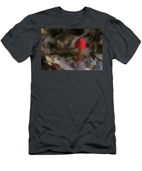 Red Forest Mushroom Men's T-Shirt (Athletic Fit)