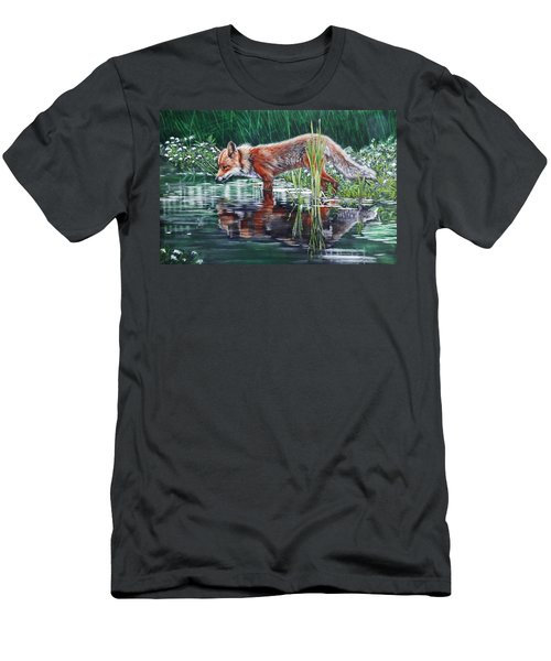 Red Fox Reflecting Men's T-Shirt (Athletic Fit)
