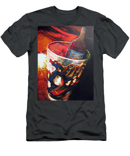 Red Men's T-Shirt (Slim Fit) by Jan VonBokel