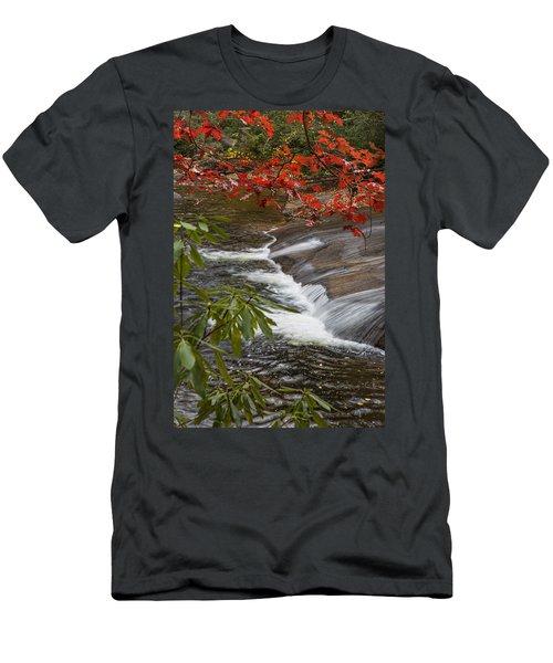 Red Leaf Falls Men's T-Shirt (Athletic Fit)