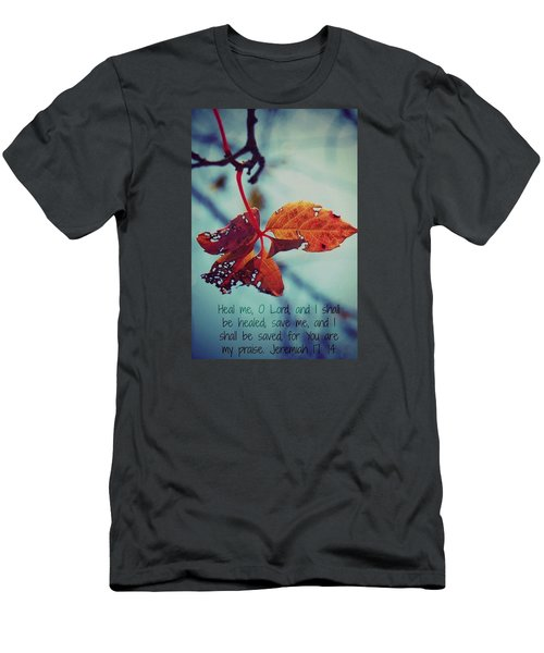 Red Leaf Men's T-Shirt (Slim Fit) by Artists With Autism Inc