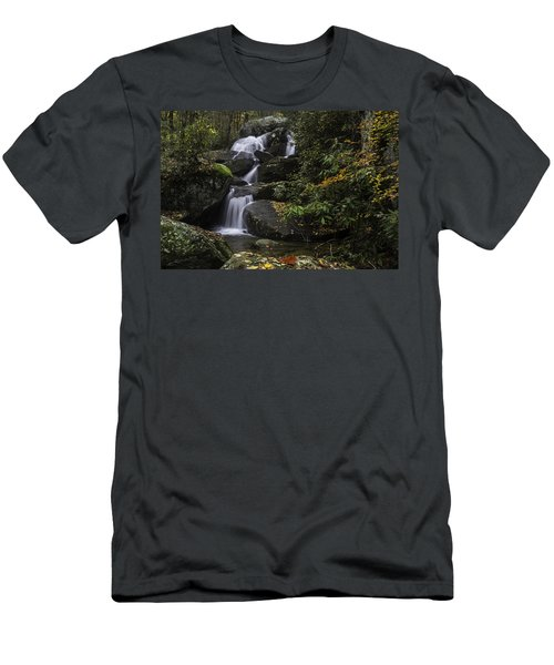 Red Leaf Waterfalls Men's T-Shirt (Athletic Fit)