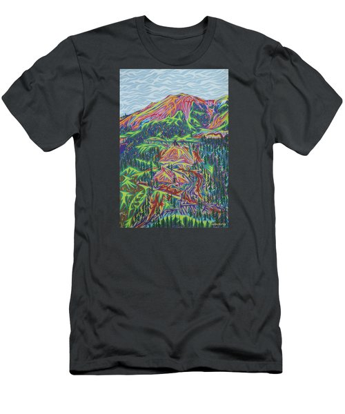 Red Mountain Men's T-Shirt (Slim Fit) by Robert SORENSEN