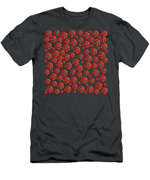 Red Poppies Transparent  Men's T-Shirt (Athletic Fit)