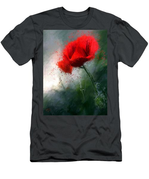 Red Poppy Men's T-Shirt (Athletic Fit)