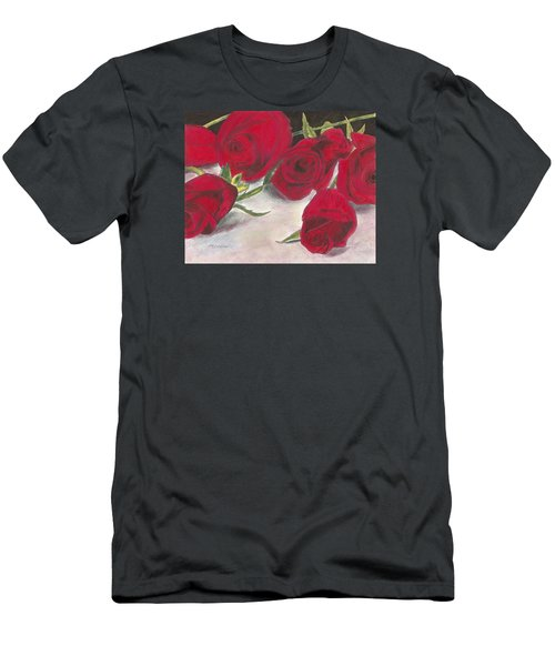 Red Rose Redux Men's T-Shirt (Athletic Fit)