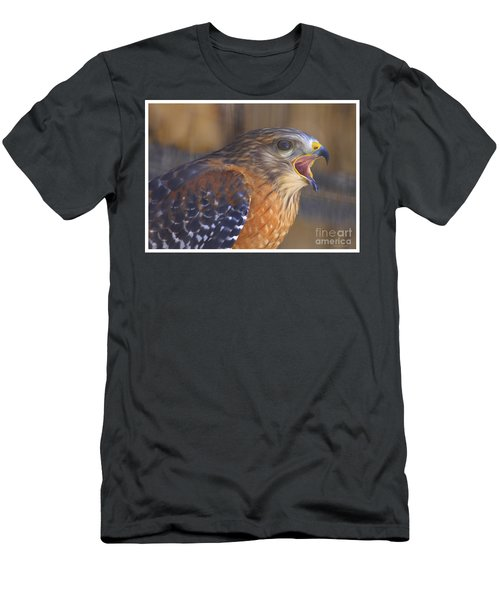 Red Shoulder Hawk Men's T-Shirt (Athletic Fit)