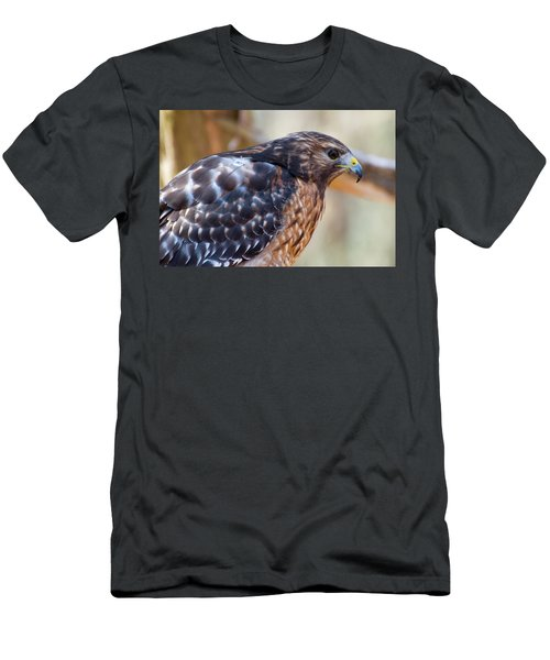 Red Shouldered Hawk 2 Men's T-Shirt (Slim Fit) by Chris Flees