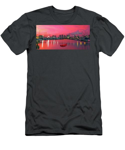 Red Skies At Night Men's T-Shirt (Slim Fit)