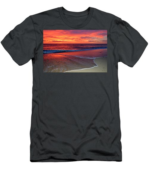 Red Sky In Morning Men's T-Shirt (Athletic Fit)
