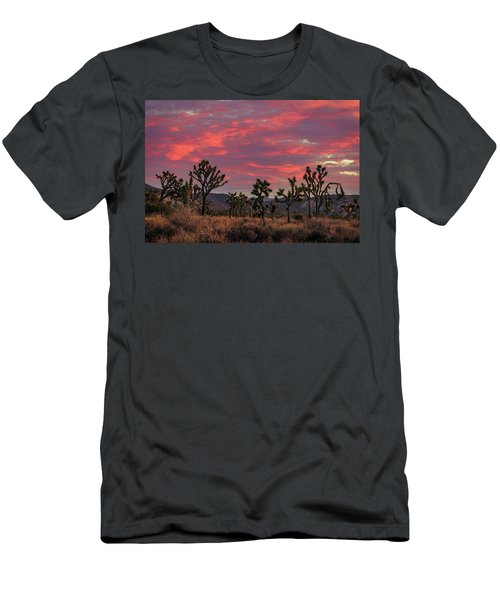 Men's T-Shirt (Athletic Fit) featuring the photograph Red Sky Over Joshua Tree by John Hight