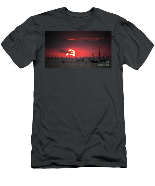 Red Sky Men's T-Shirt (Slim Fit) by Scott and Dixie Wiley