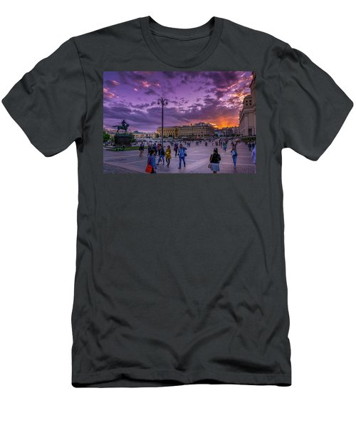 Red Square At Sunset Men's T-Shirt (Athletic Fit)