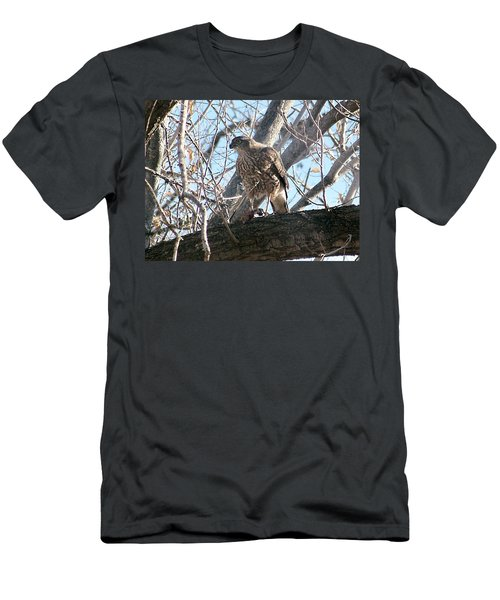Men's T-Shirt (Athletic Fit) featuring the digital art Red Tail Hawk by Deleas Kilgore