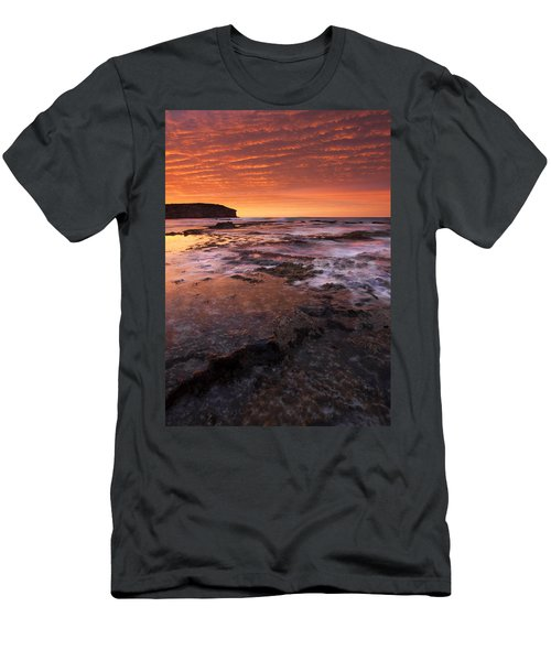 Red Tides Men's T-Shirt (Slim Fit) by Mike  Dawson