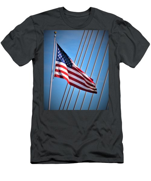Red, White And Blue Men's T-Shirt (Slim Fit) by Martin Cline