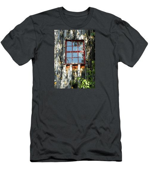 Men's T-Shirt (Slim Fit) featuring the photograph The Red Window by Sandi OReilly
