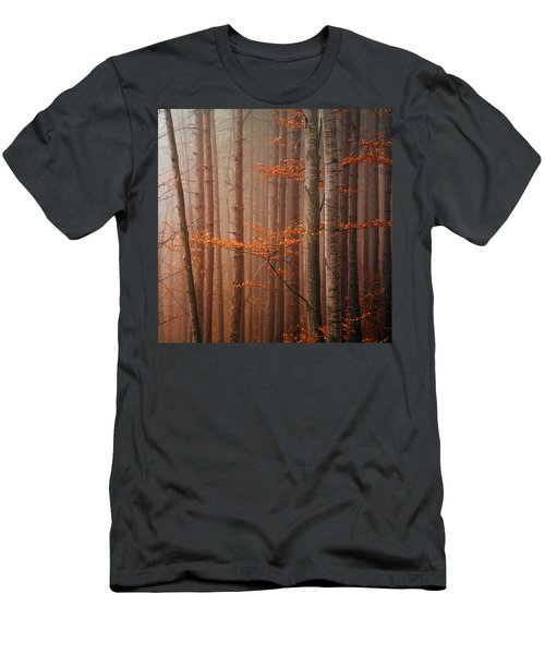 Red Wood Men's T-Shirt (Athletic Fit)