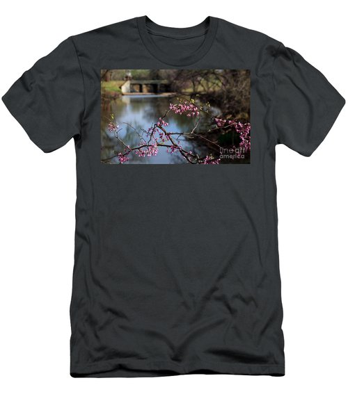 Redbuds And An Old Bridge Men's T-Shirt (Slim Fit)