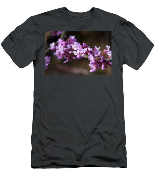Men's T-Shirt (Slim Fit) featuring the photograph Redbuds In March by Jeff Severson