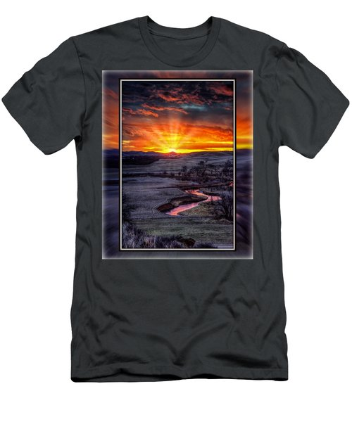 Redwater River Sunrise Men's T-Shirt (Athletic Fit)