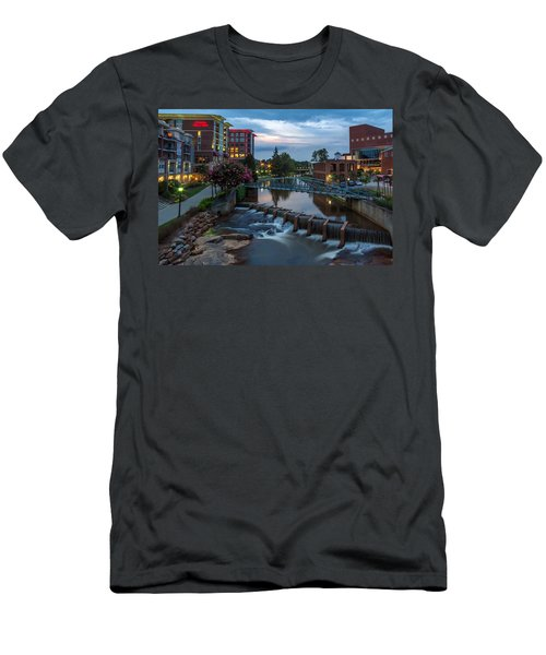 Reedy River View At Sunset Men's T-Shirt (Athletic Fit)