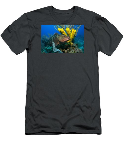Men's T-Shirt (Slim Fit) featuring the photograph Reef Denizon by Aaron Whittemore