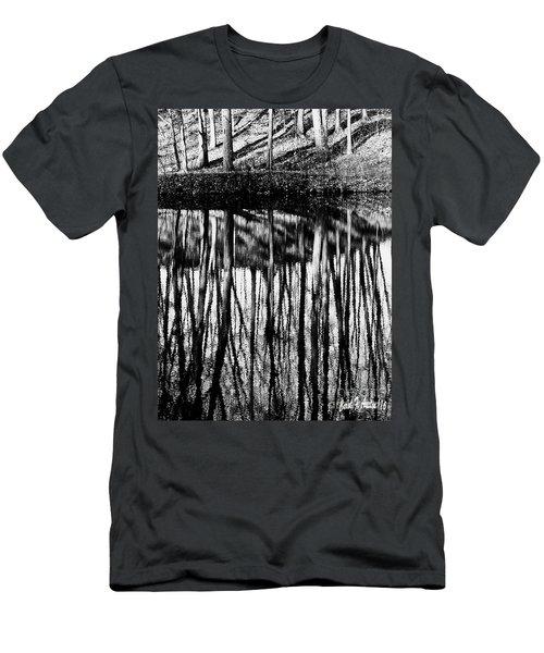 Reflected Landscape Patterns Men's T-Shirt (Slim Fit) by Carol F Austin