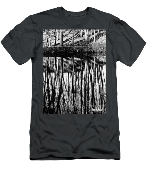 Reflected Landscape Patterns Men's T-Shirt (Athletic Fit)