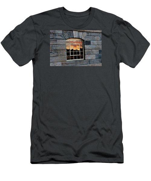 Reflected Sunset Sky Men's T-Shirt (Slim Fit) by Helen Northcott