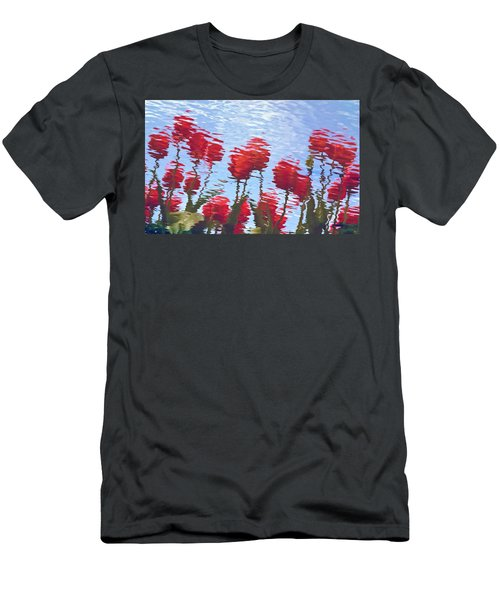 Reflected Tulips Men's T-Shirt (Athletic Fit)
