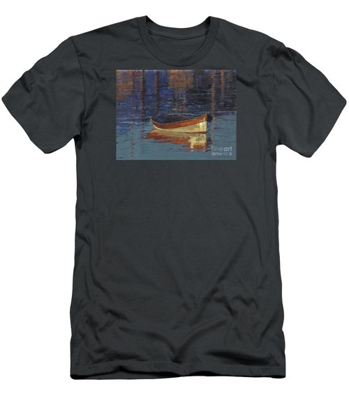 Men's T-Shirt (Slim Fit) featuring the painting Sold Reflecting At Day's End by Nancy  Parsons