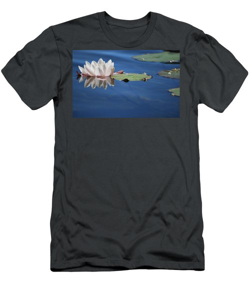Men's T-Shirt (Athletic Fit) featuring the photograph Reflecting In Blue Water by Amee Cave