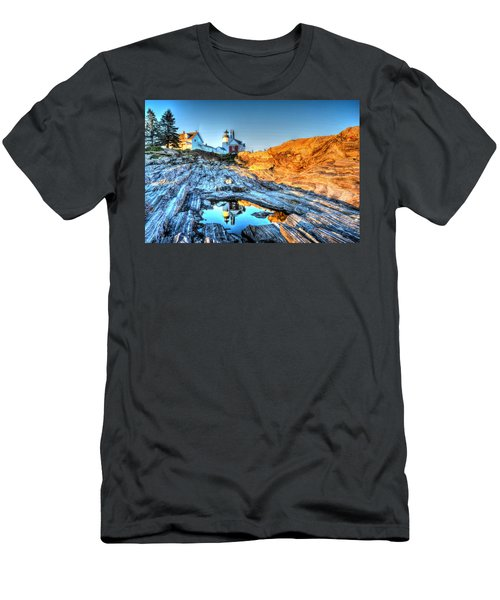 Reflections At Pemaquid Point Men's T-Shirt (Athletic Fit)