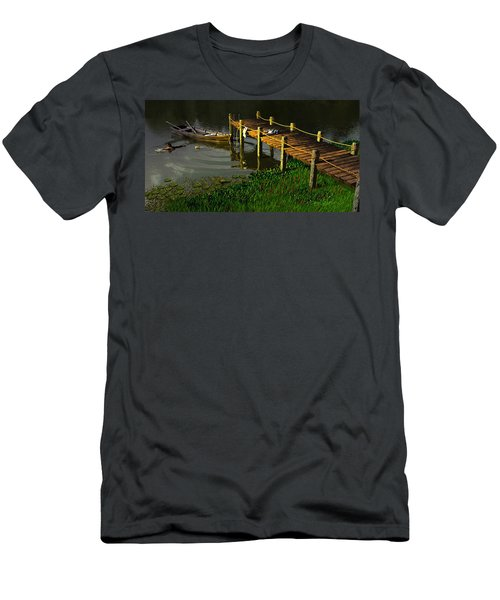 Reflections In A Restless Pond Men's T-Shirt (Athletic Fit)