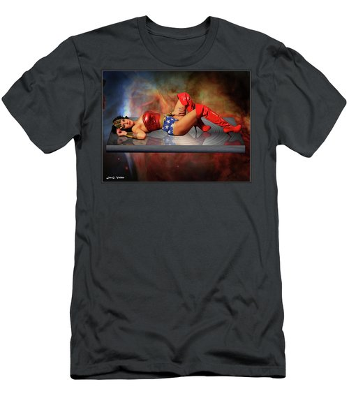 Reflections Of A Wonder Woman Men's T-Shirt (Athletic Fit)