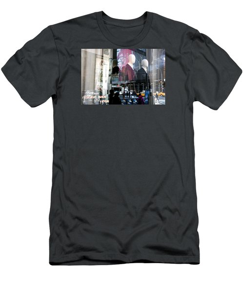Reflections Of New York Men's T-Shirt (Slim Fit) by Allen Carroll