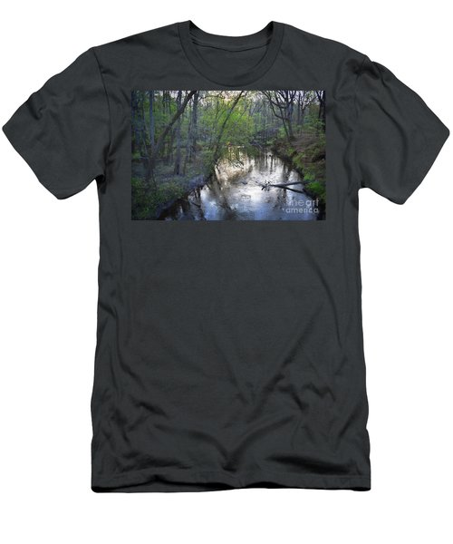 Men's T-Shirt (Slim Fit) featuring the photograph Reflections On The Congaree Creek by Skip Willits