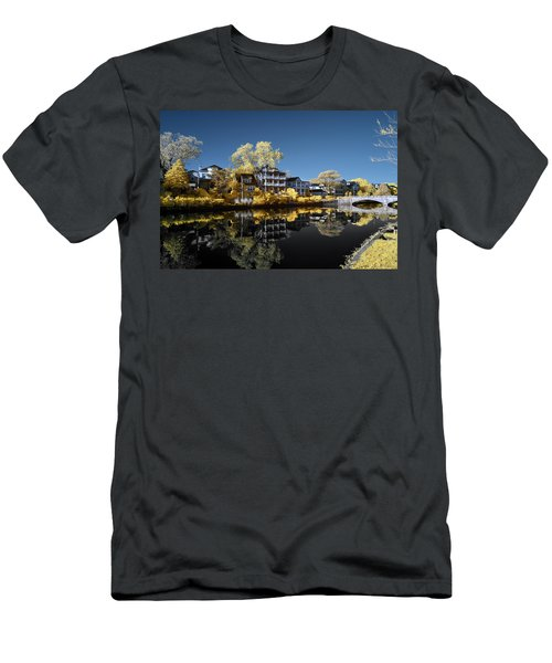 Reflections On Wesley Lake Men's T-Shirt (Slim Fit) by Paul Seymour